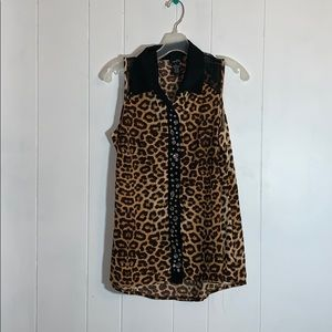 Rue 21 cheetah tank top with jewels